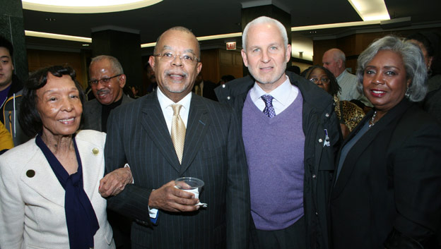 Professor Darlene Clark Hine with Northwestern University President Morton Schapiro